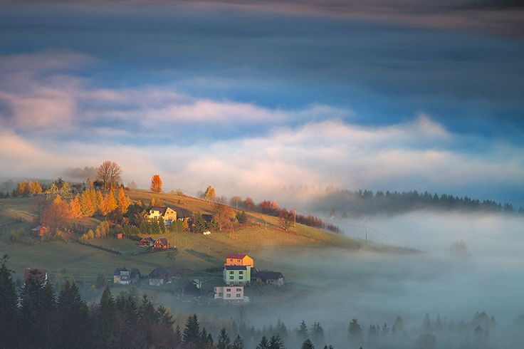 Morning Light in Beskidy, Poland