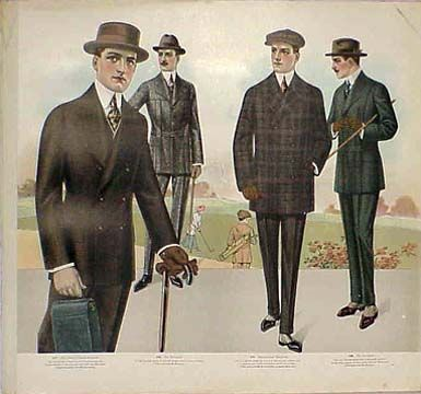 Plates from a Tailor's Catalog of Men's Fashions 1915-16 ...