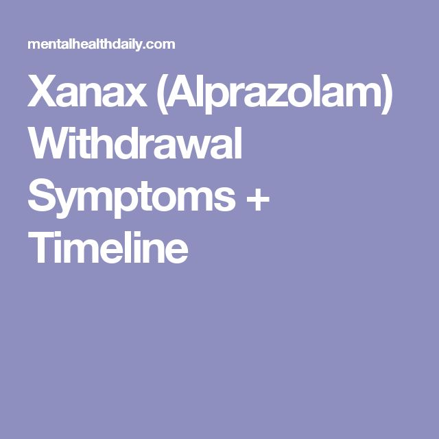 Xanax (Alprazolam) Withdrawal Symptoms + Timeline