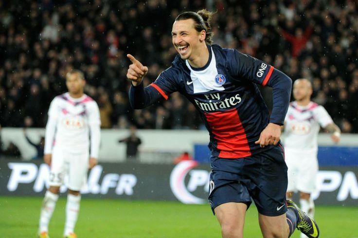 Photo - Paris - Bordeaux : 2-0 - psg.fr Zlatan Ibrahimovic vient de marquer le premier but