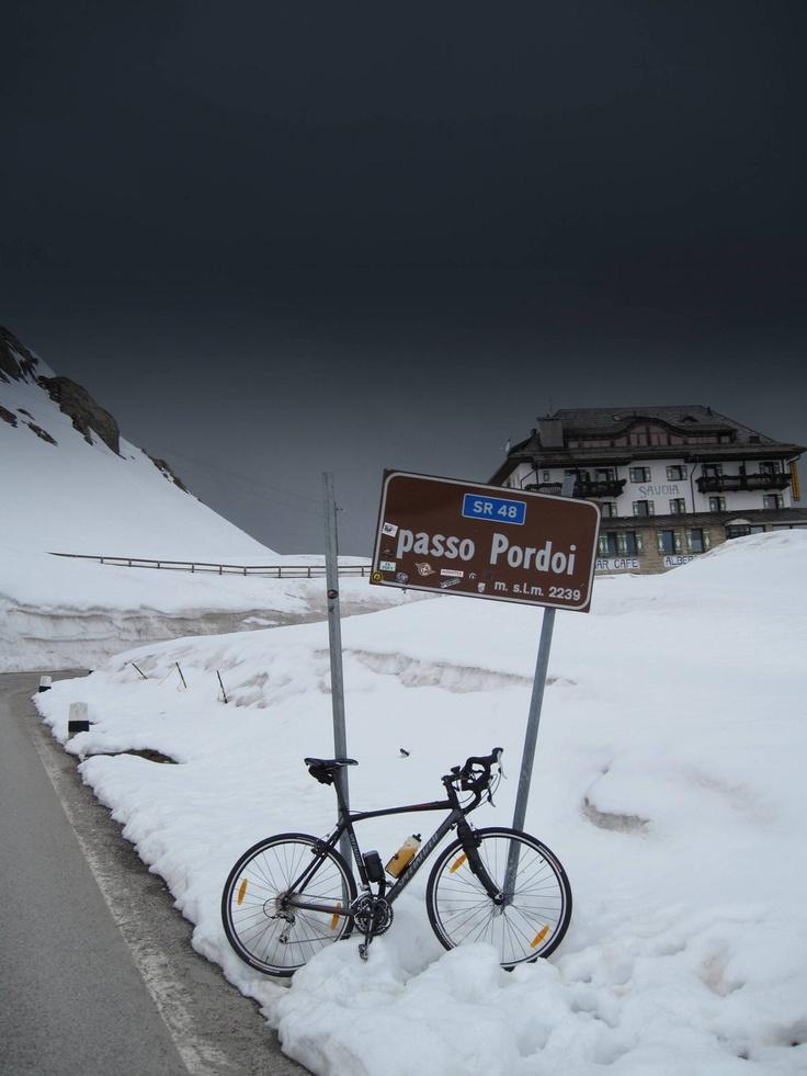 Passo Pordoi & my bike (mt. 2239)