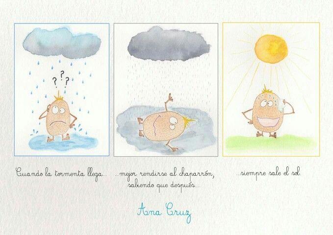 Dibujo #acuarela #tormenta #mindfulness