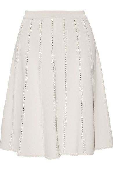 Off-white jersey Slips on 76% viscose, 13% polyester, 11% silk; lining: 100% silk Dry clean Made in Italy