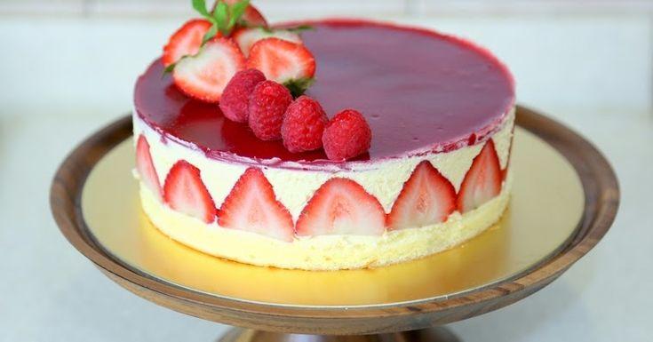 Un clásico de la cocina francesa: Tarta Fraisier: uno de los pasteles que siempre está presente en la carta de las mejores pastel...