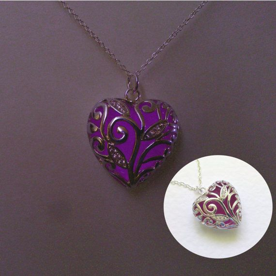 Girlfriend Gift Womens Gift Purple Glowing by BespokeInnaDesign