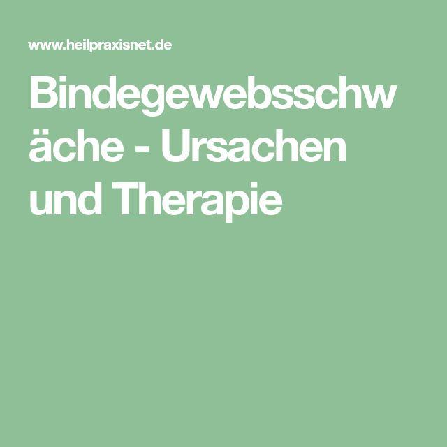 Bindegewebsschwäche - Ursachen und Therapie
