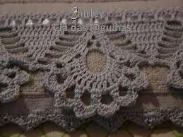 Image result for barrado de croche para toalha de banho