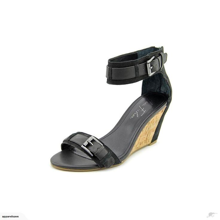 Marc Fisher Camron Wedge Sandal Black Women 7.5 | Trade Me