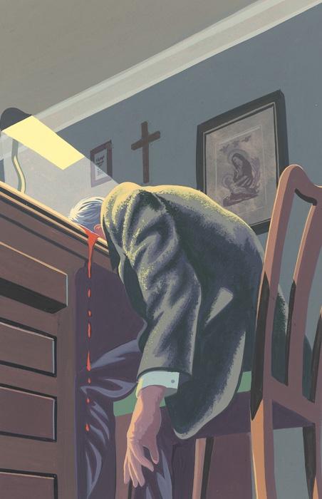 The Murder at the Vicarage - Illust. Andrew Davidson