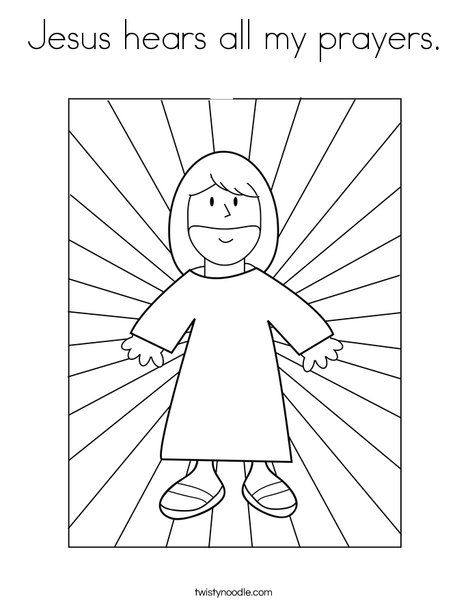 Jesus hears all my prayers Coloring Page