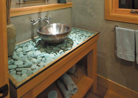 Diese Menschen kombinieren Flusssteine mit Möbeln auf eine besondere Weise… das Ergebnis ist wirklich GROSSARTIG! - DIY Bastelideen