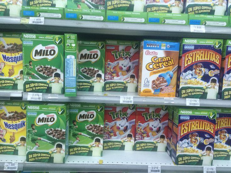 Milo ligner på Nesquik (begge produseres av Nestlé) og selges hovedsaklig i Australia, Asia og Sør-Amerika. Oppskriften er tilpasset hvert enkelt markeds forventninger,  og løses opp i enten kald/varm melk/vann avhengig av hvor i verden du kjøper produktet.