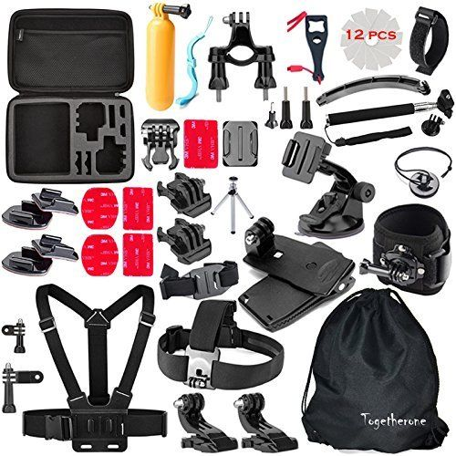 Togetherone 50 in 1 Essential Accessories Bundle Kit for APEMAN Apeman A80 Gopro Hero 5 Gopro Hero 4 Gopro Hero 3 Camera Accessory Kit GoPro Accessories Kit for Sport Camera This is rated as one of the best selling items in Electronics category in UK. Click below to see its Availability and Price in YOUR country.