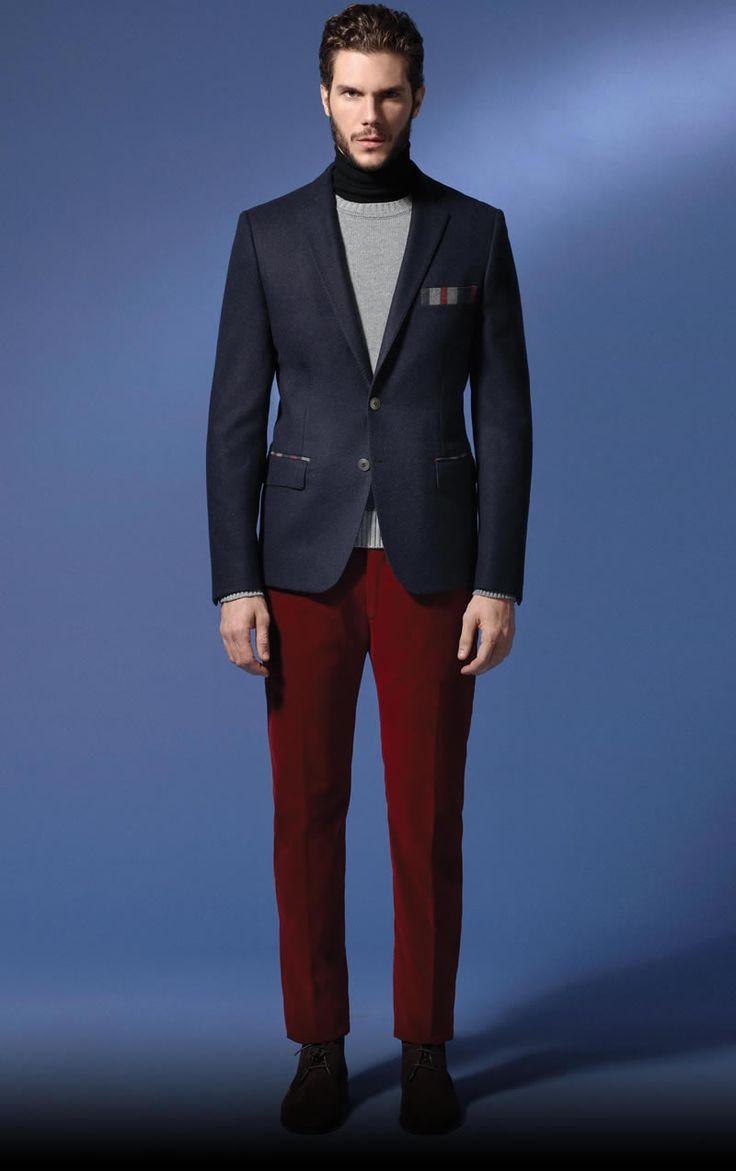 Red trousers - Tonello Autumn/Winter 2013-14 MAN