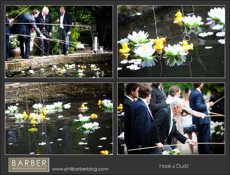 """For an outdoor wedding keep your guests entertained - """"Hook a Duck"""" a fun game for all ages (especially if there is a prize involved) Barber Wedding Photography Via Wed Loft #receptiongames"""