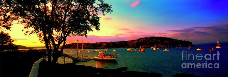Acadia Bar Harbor Sunset Cruises Photograph -  Acadia Bar Harbor Sunset Cruises by Tom Jelen