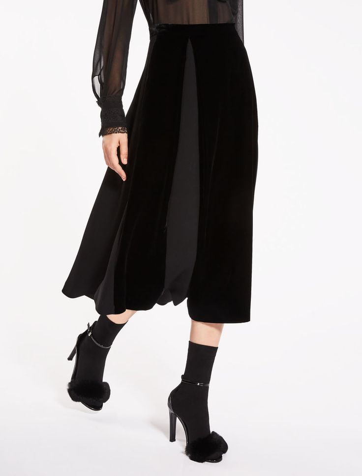 Max Mara ALICE black: Cady and velvet skirt. I generally don't look good in gathered skirts, but love this style. I usually wear long shirts.