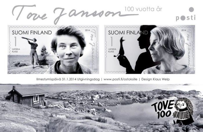Finland Post Office will release a stamp to celebrate the 100th anniversary of Tove Jansson (1914-2001), the world-famous Finnish artist and author.