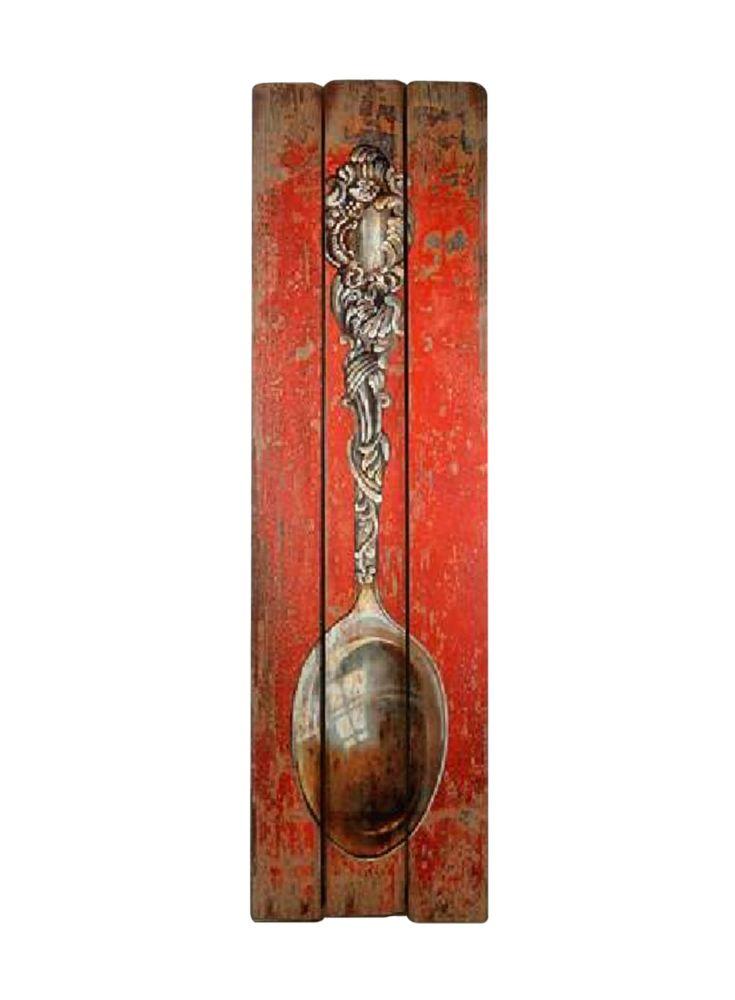 A Loja do Gato Preto | Painel Madeira Vermelha Colher #alojadogatopreto