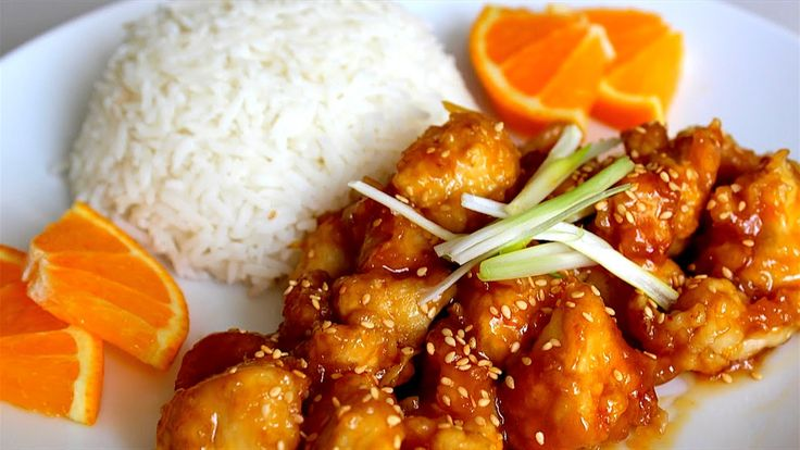 These are instructional videos on how to make orange chicken.