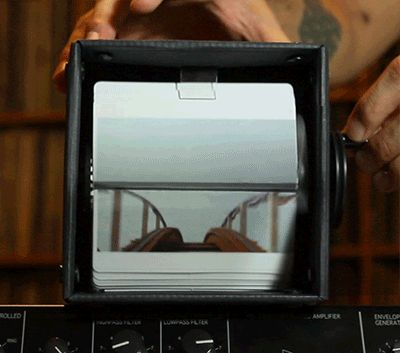 A GIF of a Vine of a Video of a Mechanical Flipbook of a GIF of a Roller Coaster