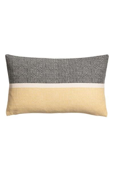 Canvas cushion cover - Yellow/Multicoloured - Home All | H&M GB 1