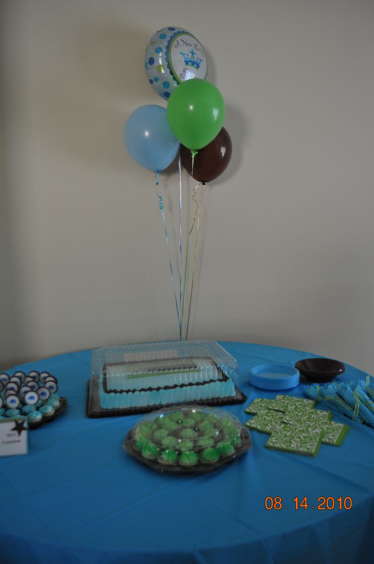blue brown and green baby shower parties pinterest