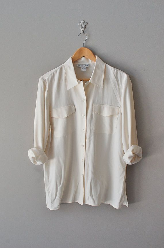 There's just no end to the ways in which you can wear a simple classic style like this one!  pale cream silk blouse | $36.00