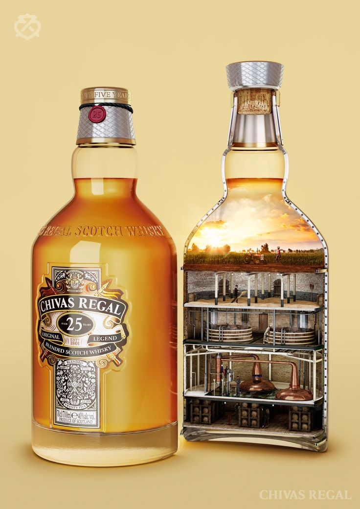 #cgi #advertising #design #CGImodelling #texturing #retouching #Chivas #drink #bottle