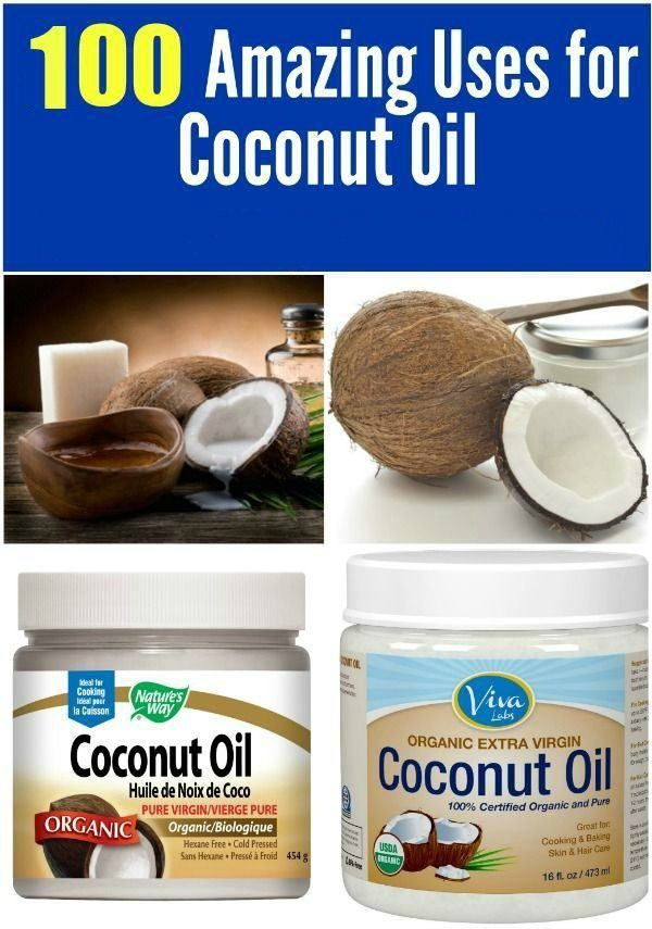 100 Ways to Use Coconut Oil to Benefit your Life. Exfoliates, fights acne, homemade toothpaste, hair spray and more #health #coconut oil
