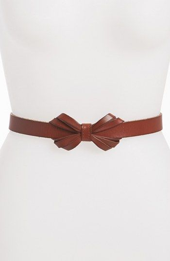 Fossil 'Bow' Leather Belt | Nordstrom