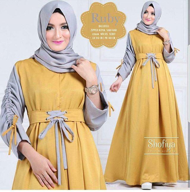 Ruby dress 110rb . Mat : balotelli  All size fit to L  Real pict . Srius order kontak : 👉 BBM 5BC1B1C3 👉 WA 085641777968 👉 line muayyida93 . proses pengiriman satu hari setelah transfer . Note: 👉 keep = no cancel 👉 barang yang dishare = ready stok #ootd #hijabstyle #hijabers #hijab #hijabfashion #jilbab #muslimahfashion #muslimahstyle #bajumuslimah #bajumurmer #bajuanakbranded #anakhitskekinian #gamiscantik #gamismodern #busanamuslim #busanamuslimah #busanamurah #gamisbusui…