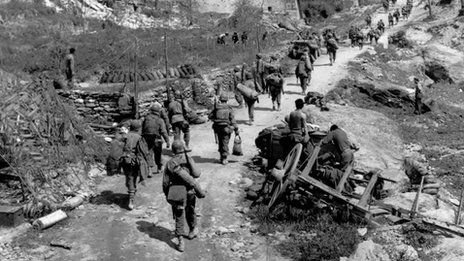 The Battle of Monte Cassino was a costly series of four assaults by the Allies against the Winter Line in Italy held by Axis forces during the Italian Campaign of World War II. The intention was a breakthrough to Rome.