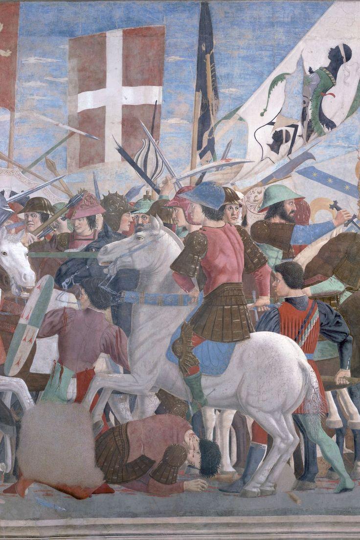 Terre di Piero della Francesca – La leggenda della Vera Croce (particolare)  Arezzo, Basilica di San Francesco, Cappella Bacci