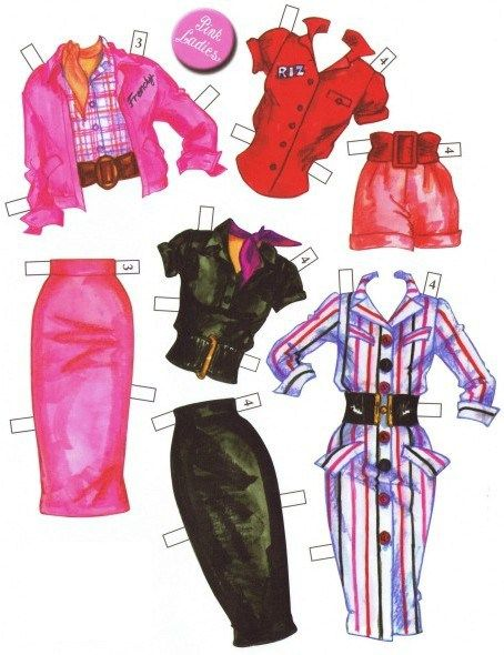 """""""Grease"""" paper dolls"""