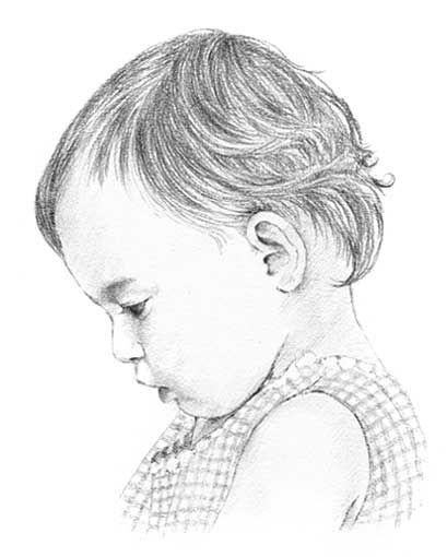 Baby pencil portrait drawing \u2026 A ART \u2026