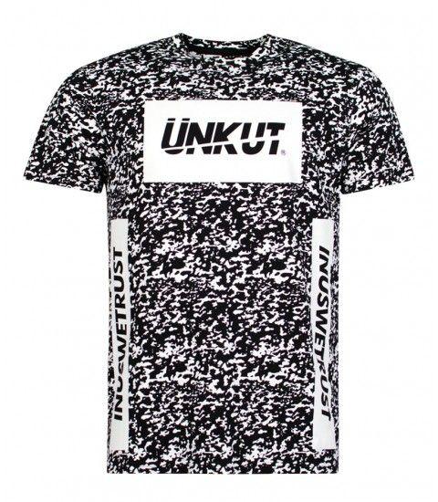 T-shirt Unkut Splash Noir