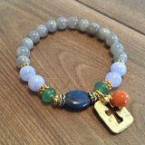 Spiritual Wellness Bracelet. A custom bracelet for a  customer healing from a stroke.  Blue Lace Agate, Aventurine, Labrodorite, Lapis, Calcite.   Get well soon! http://injewels.net/products/stroke-spiritual-wellness-bracelet