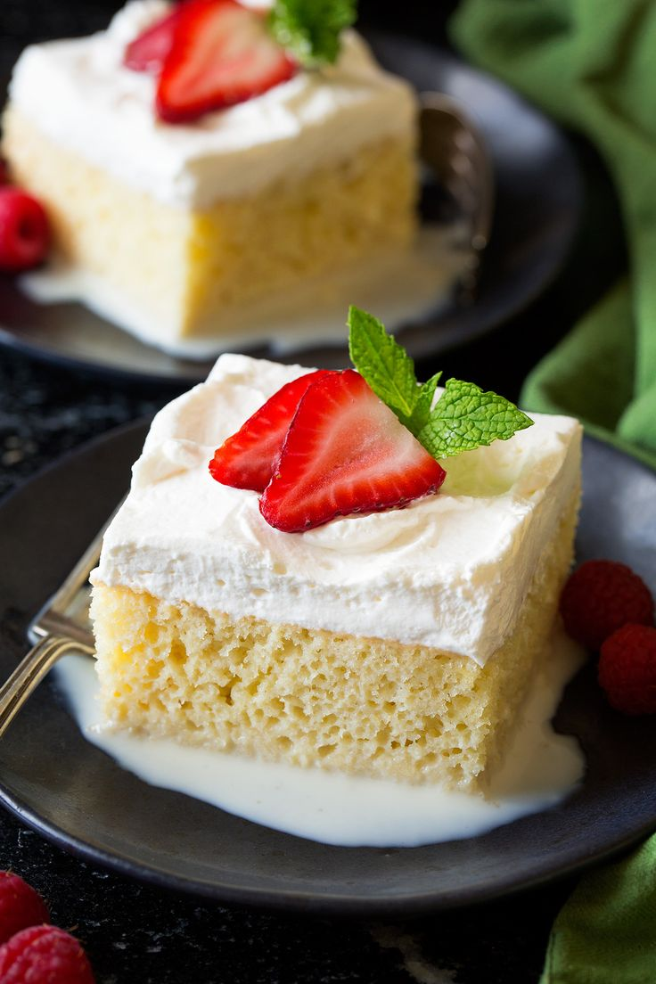 A delicious, sweet, milk soaked cake that's perfect for special occasions! My favorite Tres Leches Cake recipe!