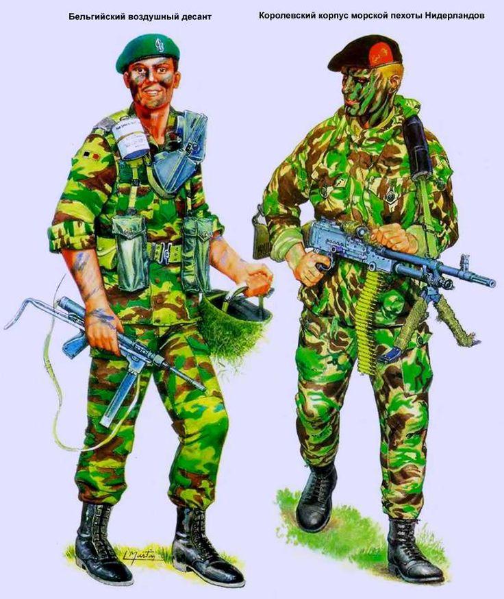 Бельгийский воздушный десант и Королевский корпус морской пехоты Нидерландов