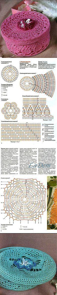 Вязаные шкатулки - МК и схемы