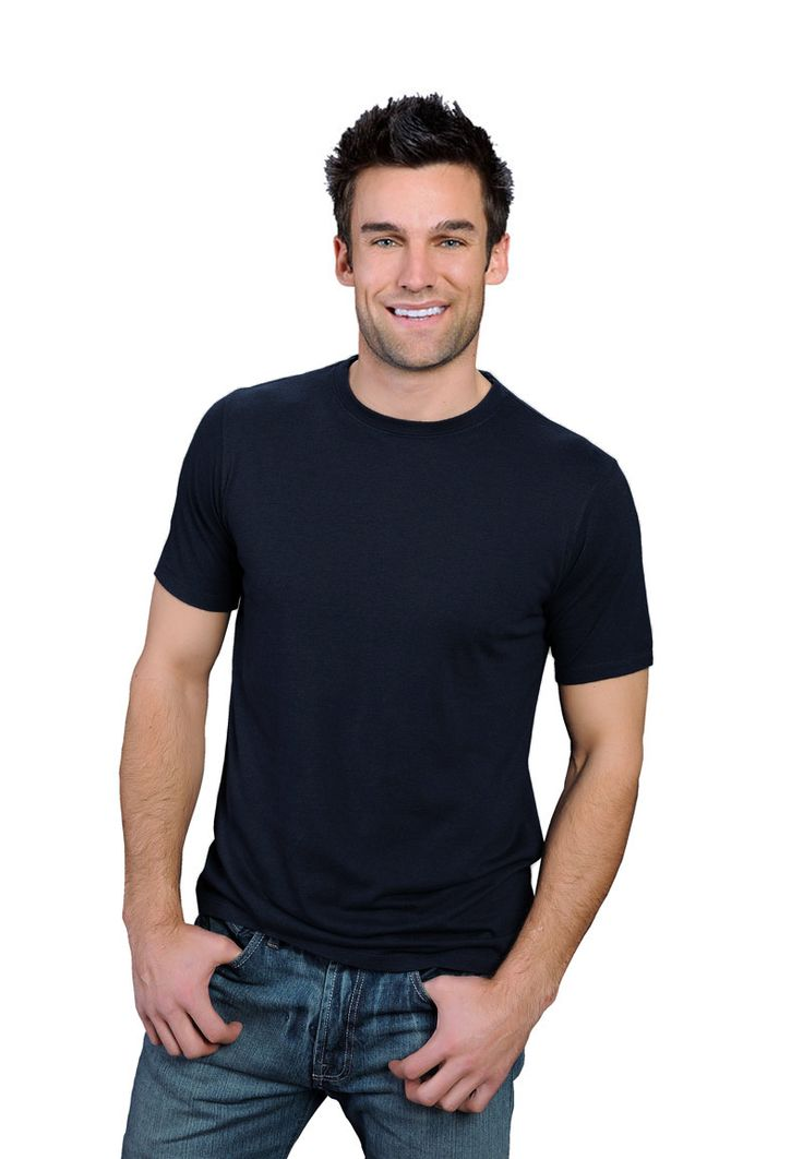 charcoal blue ONNO bamboo and organic cotton t-shirt for men. Soft to the touch and a powerful statement color.
