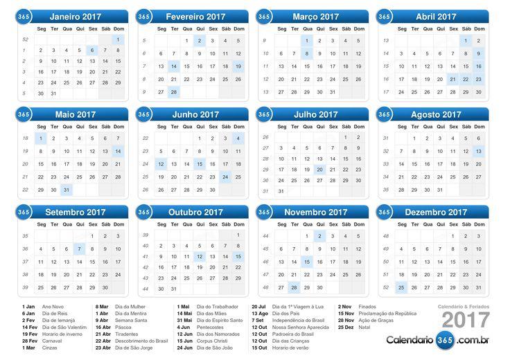 Calendário 2017                                                       …                                                                                                                                                                                 Mais