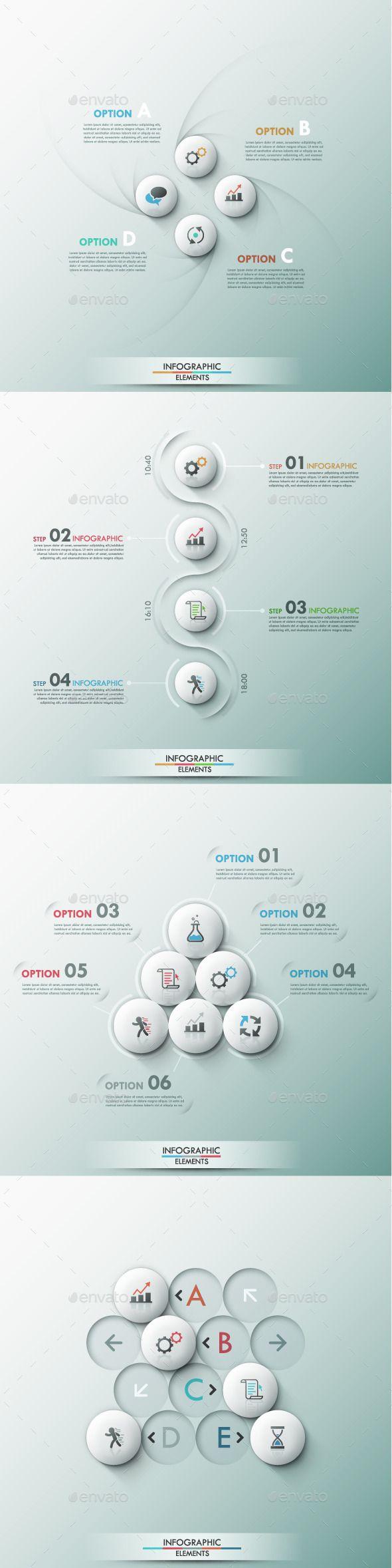 Set of 4 Modern Infographic Template #design Download: http://graphicriver.net/item/set-of-4-modern-infographic-templates/9449510?ref=ksioks