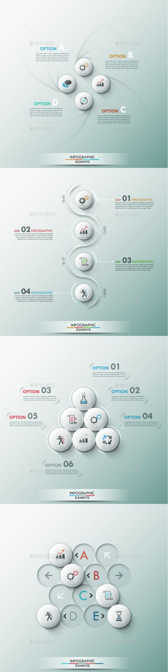 Set of 4 Modern Infographic Template #design Download: http://graphicriver.net/item/set-of-4-modern-infographic-templates/9449510?ref=ksioks