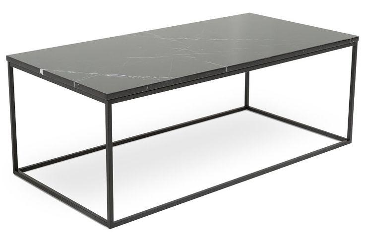 Soffbord Titania Svart Marmor/Svart 120x60x45 cm