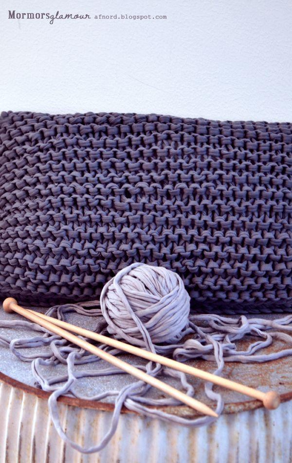 Sticka en ny kudde på en kväll… | DIY Mormorsglamour