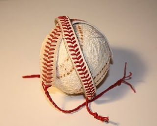 So making these for next baseball season...Lord knows we have enough baseballs lying around! Love it!