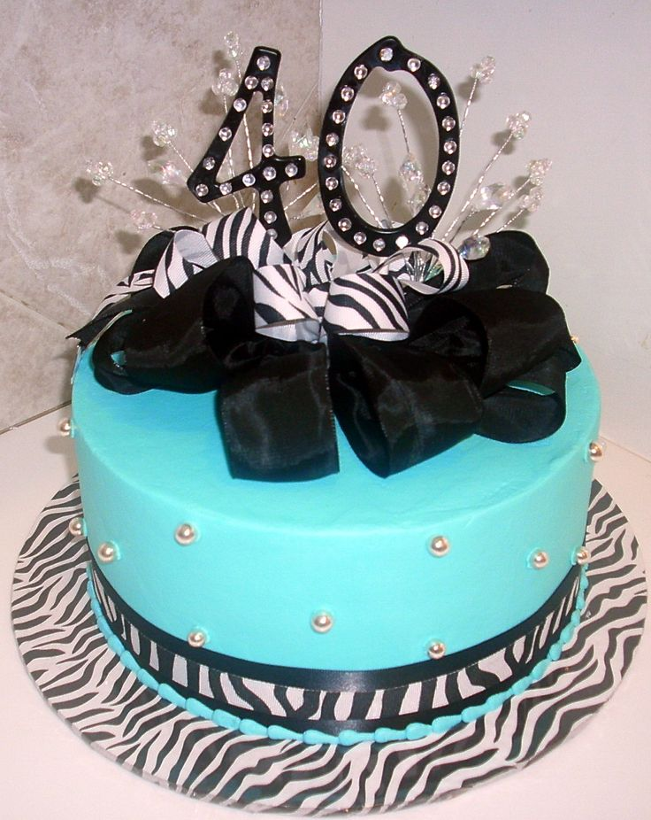 40th birthday cakes for women | themecakesbytraci.com