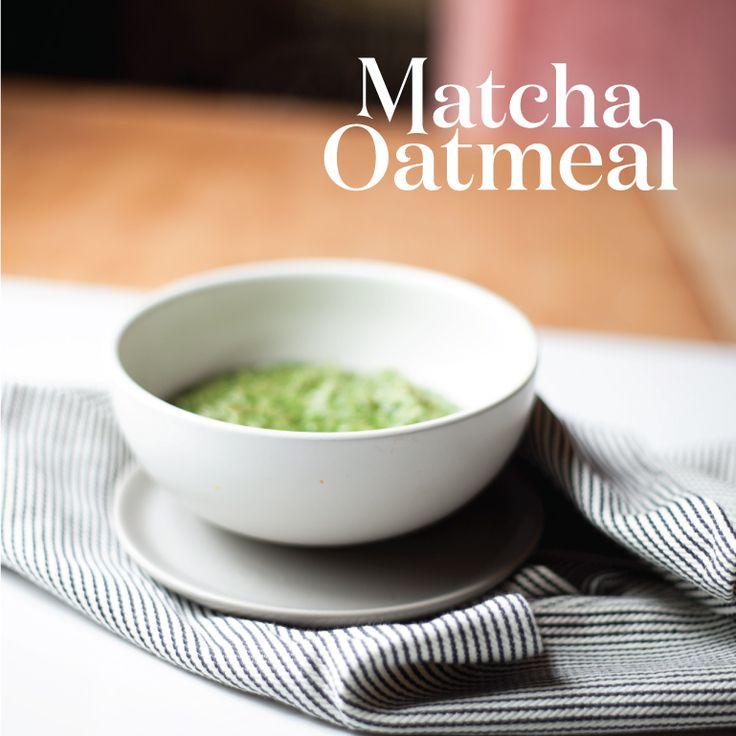 Matcha Oatmeal with Sesame and Coconut